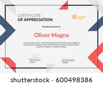 certificate of appreciation... | Shutterstock .eps vector #600498386