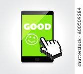 good job  idea. display on high ... | Shutterstock .eps vector #600509384