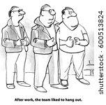 business cartoon about team...   Shutterstock . vector #600513824