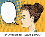 beautiful brunette girl in... | Shutterstock .eps vector #600515900