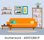living room with furniture....   Shutterstock .eps vector #600518819