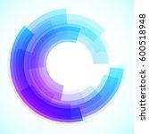 geometric frame  vector... | Shutterstock .eps vector #600518948