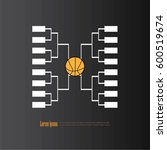 blank basketball tournament... | Shutterstock .eps vector #600519674