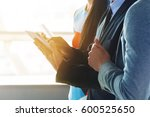 hand of businessman hold... | Shutterstock . vector #600525650