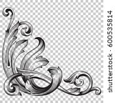 vintage baroque ornament retro...   Shutterstock .eps vector #600535814