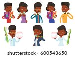 young african american dentist... | Shutterstock .eps vector #600543650
