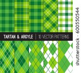 green golf argyle  tartan and... | Shutterstock .eps vector #600550544