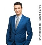handsome young businessman... | Shutterstock . vector #600551798