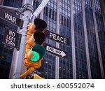nyc wall street yellow traffic... | Shutterstock . vector #600552074