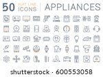 set  line icons in flat design... | Shutterstock . vector #600553058