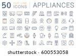 set  line icons in flat design... | Shutterstock . vector #600553058