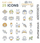 set  line icons in flat design... | Shutterstock . vector #600553070