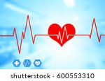 medical and healthcare concept... | Shutterstock . vector #600553310