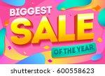 biggest sale horizontal banner. ... | Shutterstock .eps vector #600558623