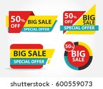 colorcful shopping sale banner... | Shutterstock .eps vector #600559073