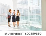 full length of businesswomen... | Shutterstock . vector #600559850