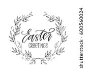 vector hand drawn greeting card ... | Shutterstock .eps vector #600560024