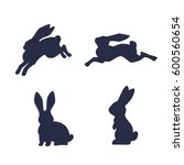 Running Hare Vector Silhouette...
