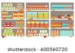 grocery items on the... | Shutterstock .eps vector #600560720