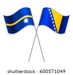 nauruan and bosnian crossed...   Shutterstock .eps vector #600571049