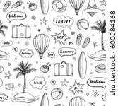 seamless pattern of hand drawn... | Shutterstock .eps vector #600584168