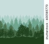 twilight forest trees... | Shutterstock .eps vector #600585770