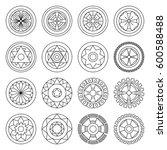 icon geometric mandalas... | Shutterstock .eps vector #600588488