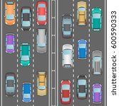 car traffic. autobahn.... | Shutterstock .eps vector #600590333