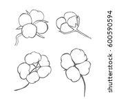 vector set of hand draw ink... | Shutterstock .eps vector #600590594