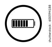 battery icon | Shutterstock .eps vector #600594188
