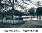 Abandoned Hut By The Lake.