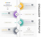 timeline infographics circle... | Shutterstock .eps vector #600599063