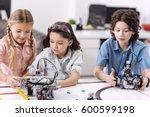 inventive children testing... | Shutterstock . vector #600599198