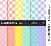 Easter Colors Pixel Gingham An...