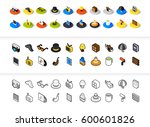 set of icons in different style ... | Shutterstock .eps vector #600601826