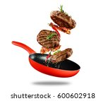 beef milled meat flying from a... | Shutterstock . vector #600602918