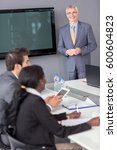 business meeting at company... | Shutterstock . vector #600604823