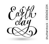 happy earth day hand lettering... | Shutterstock .eps vector #600606104