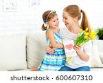 happy mother's day  child... | Shutterstock . vector #600607310