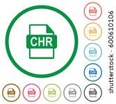 chr file format flat color... | Shutterstock .eps vector #600610106