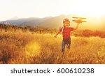 child pilot aviator with... | Shutterstock . vector #600610238