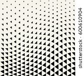 geometric triangle halftone... | Shutterstock .eps vector #600610904