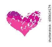 vector heart logo | Shutterstock .eps vector #600614174