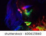 beautiful extraterrestrial... | Shutterstock . vector #600615860