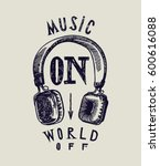 music on world off classic... | Shutterstock .eps vector #600616088