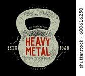 heavy metal kettlebell rock... | Shutterstock .eps vector #600616250