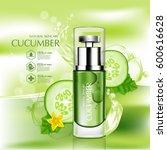 cucumber natural moisture skin... | Shutterstock .eps vector #600616628