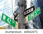 the intersection of 42nd street ...