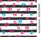 cute seamless pattern with a... | Shutterstock .eps vector #600620900
