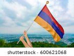 young man's hands proudly... | Shutterstock . vector #600621068